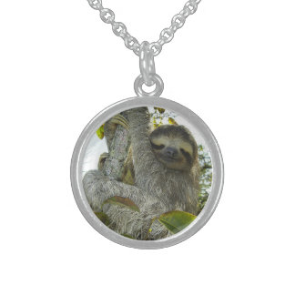 Live Life Like a Sloth Sterling Silver Necklace