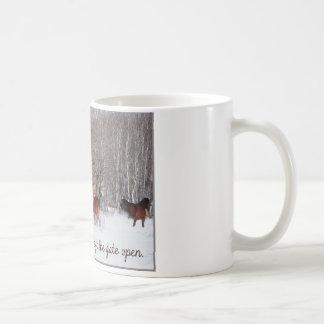 Live Life.....Like someone left the gate open! Classic White Coffee Mug