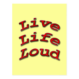 Live Life Loud red arch Postcard
