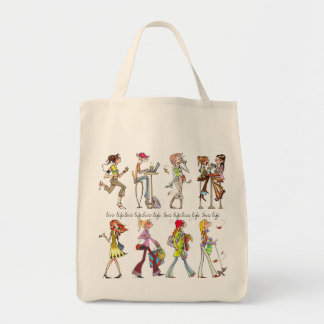 """live life. love life"" women tote"