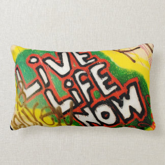 Live Life Now Throw Pillow