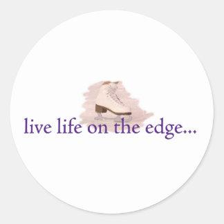 Live life on the edge... classic round sticker