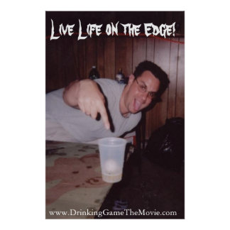 Live Life on the Edge Poster