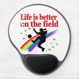 LIVE LIFE ON THE SOCCER FIELD GEL MOUSE PAD