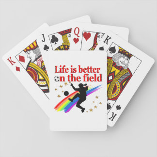 LIVE LIFE ON THE SOCCER FIELD PLAYING CARDS