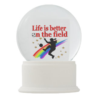 LIVE LIFE ON THE SOCCER FIELD SNOW GLOBE