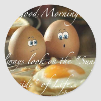 Live LIfe on the sunny side Classic Round Sticker