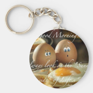 Live LIfe on the sunny side Keychain