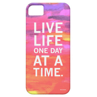 Live Life One Day At A Time Water Color Phone Case