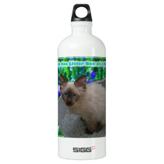 Live Life One Litter Box at a Time Aluminum Water Bottle