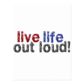 Live Life Out Loud Postcard