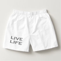 LIVE LIFE - strips - black and white. Boxers