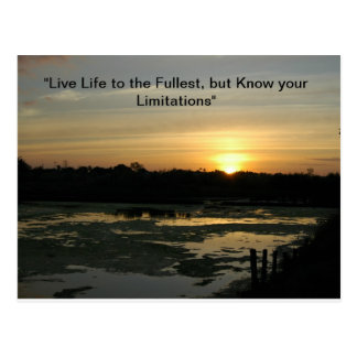 Live life to the fullest postcard