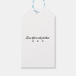 live life ton the fullest gift tags