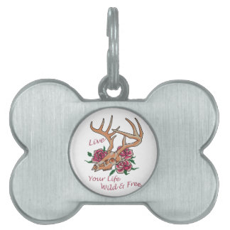 Live Life Wild And Free Pet Tag