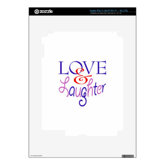 Live Life With Love & Laughter Decals For iPad 3