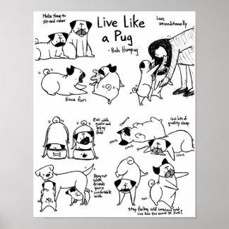 Live Like A Pug! Poster