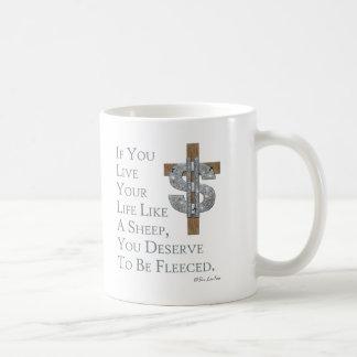 Live Like A Sheep, Get Fleeced Coffee Mug
