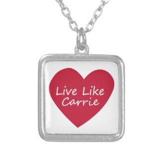Live Like Carrie SM Silver Necklace