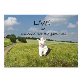 """Live Like Someone Left the Gate Open"" Invitation"