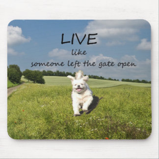 """""""Live Like Someone Left the Gate Open"""" Mouse Mat"""