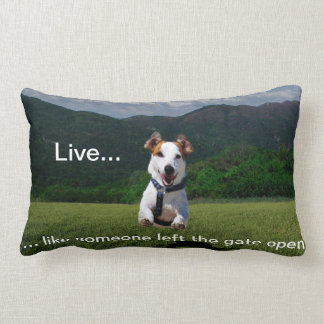 """""""Live Like Someone Left the Gate Open"""" Pillow"""