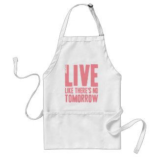 Live Like There's No Tomorrow Adult Apron