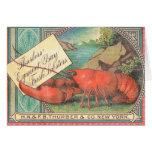 Live Lobster - Vintage Food Crate Label Card