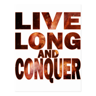 Live Long and Conquer Postcard