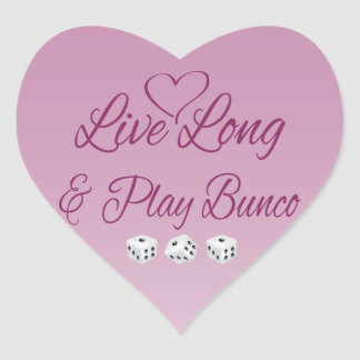 Live Long and Play Bunco Heart Sticker