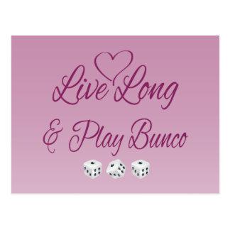 Live Long and Play Bunco Postcard
