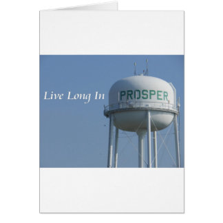 Live Long in Prosper (TX) Greeting Card