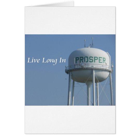 Live Long in Prosper (TX) Greeting Card