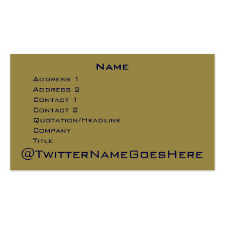 Live Long & Twitter Business Card