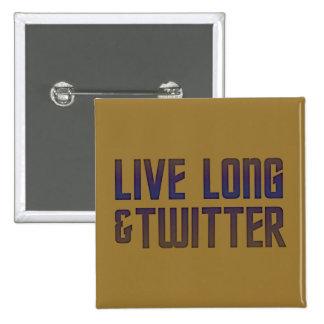 Live Long & Twitter Text Button