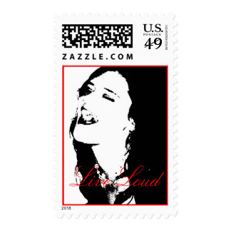 Live Loud 2 Postage Stamps