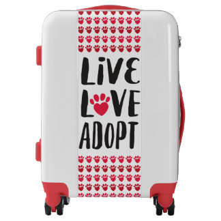 Live. Love. Adopt Case Luggage