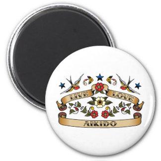 Live Love Aikido 2 Inch Round Magnet