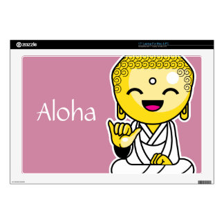 Live Love Aloha Funny Buddha cartoon Decals For Laptops