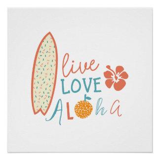 Live, love, aloha poster
