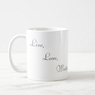 Live, Love and Write Mugs