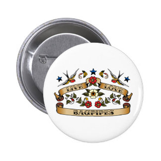 Live Love Bagpipes 2 Inch Round Button