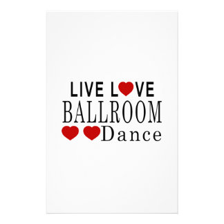 LIVE LOVE BALLROOM DANCE STATIONERY