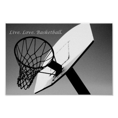Black and white basketball poster zazzle com