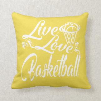 LIVE - LOVE - BASKETBALL THROW PILLOW