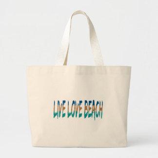 Live Love Beach Tote Bags