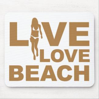 Live Love Beach Mouse Pad