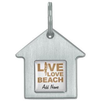 Live Love Beach Pet ID Tag