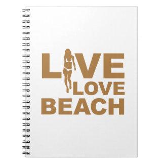 Live Love Beach Spiral Notebook