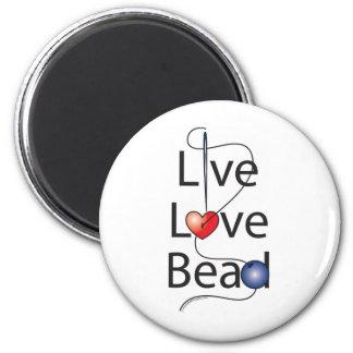 Live Love Bead Refrigerator Magnet